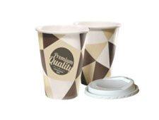 Vasos de café con tapa